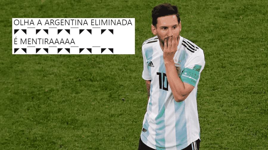 No dia em que a brincadeira de festa junina virou meme no Twitter, a Argentina pregou uma peça nos secadores brasileiros - Reprodução/Twitter