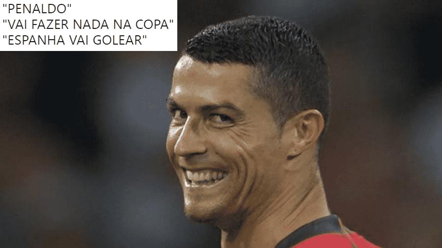 Cristiano Ronaldo calou os críticos no empate entre Portugal e Espanha em sua estreia na Copa de 2018 - Reprodução/Twitter