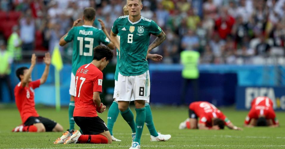 Decepção de Toni Kroos contrasta com alegria da Coreia do Sul