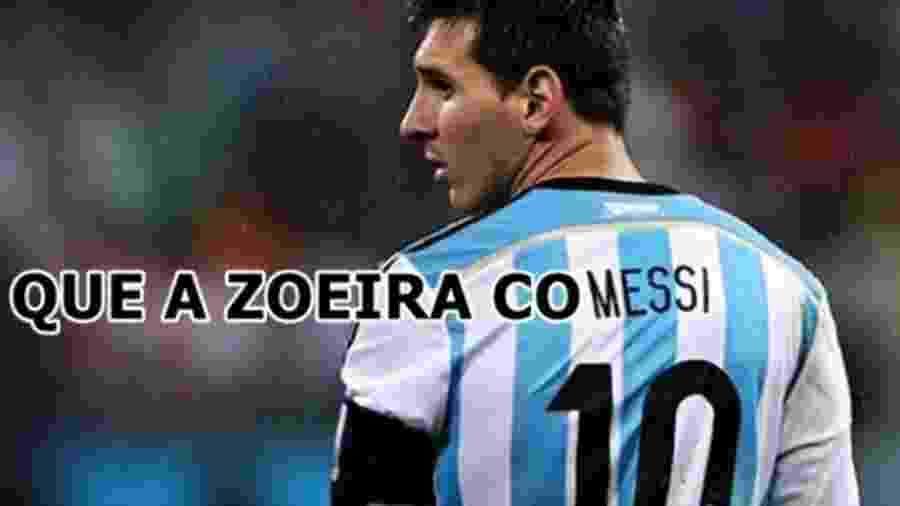 Messi perdeu o pênalti que poderia ter dado a vitória à Argentina na estreia, e os secadores não perdoaram - Reprodução/Twitter