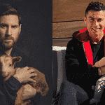 A barbicha é uma suposta provocação a Messi por causa desta foto com um bode - Reprodução/Twitter