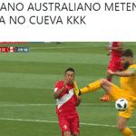O jogador australiano foi comparado a Luís Fabiano por causa desta cena - Reprodução/Twitter