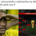 Desta vez, Neymar virou meme não pelas quedas, mas pelo gesto que fez no fim do jogo para procurar o filho Davi Lucca na arquibancada - Reprodução/Twitter