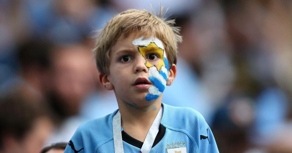Torcida do Uruguai prestigia sua seleção para partida contra a França, em Nizhny Novgorod