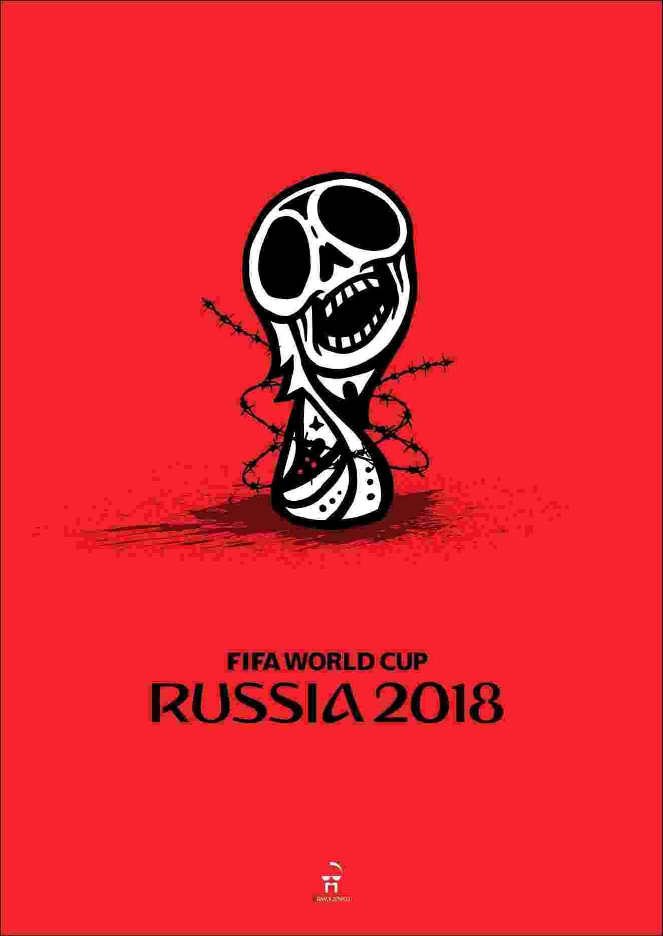 Cartaz critica Copa do Mundo na Rússia sob ponto de vista ucraniano - Andriy Yermolenko/reprodução Facebook