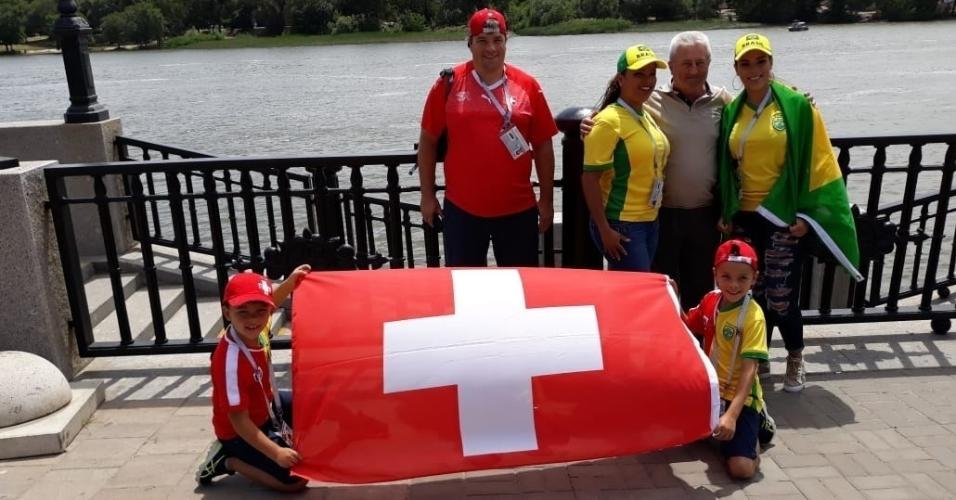 Família se divide na torcida para Brasil e Suíça