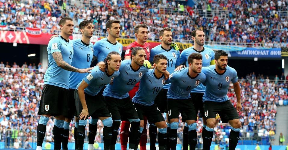 Seleção do Uruguai para duelo contra a França