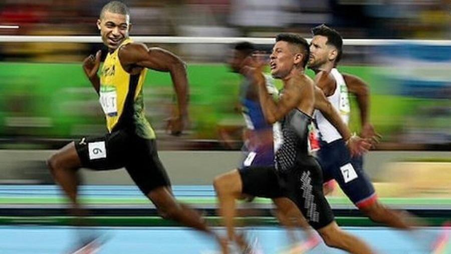 Meme Mbappé correndo