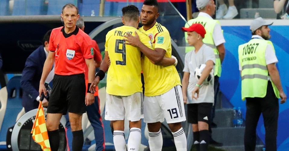 Miguel Borja entrou nos minutos finais de jogo da Colômbia x Senegal