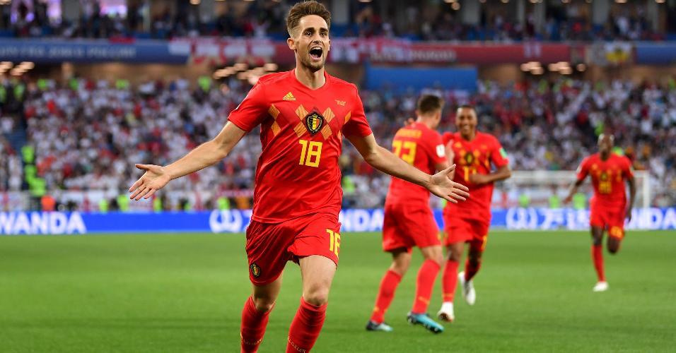 Adnan Januzaj comemora gol da Bélgica contra a Inglaterra