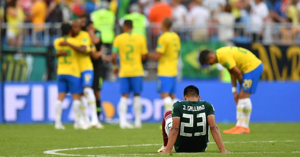 Jesus Gallardo lamenta eliminação do México após derrota por 2 a 0 contra o Brasil
