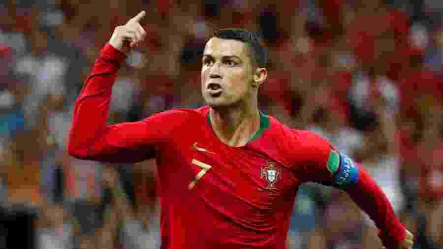 Cristiano Ronaldo comemora gol de Portugal contra a Espanha - Murad Sezer/Reuters