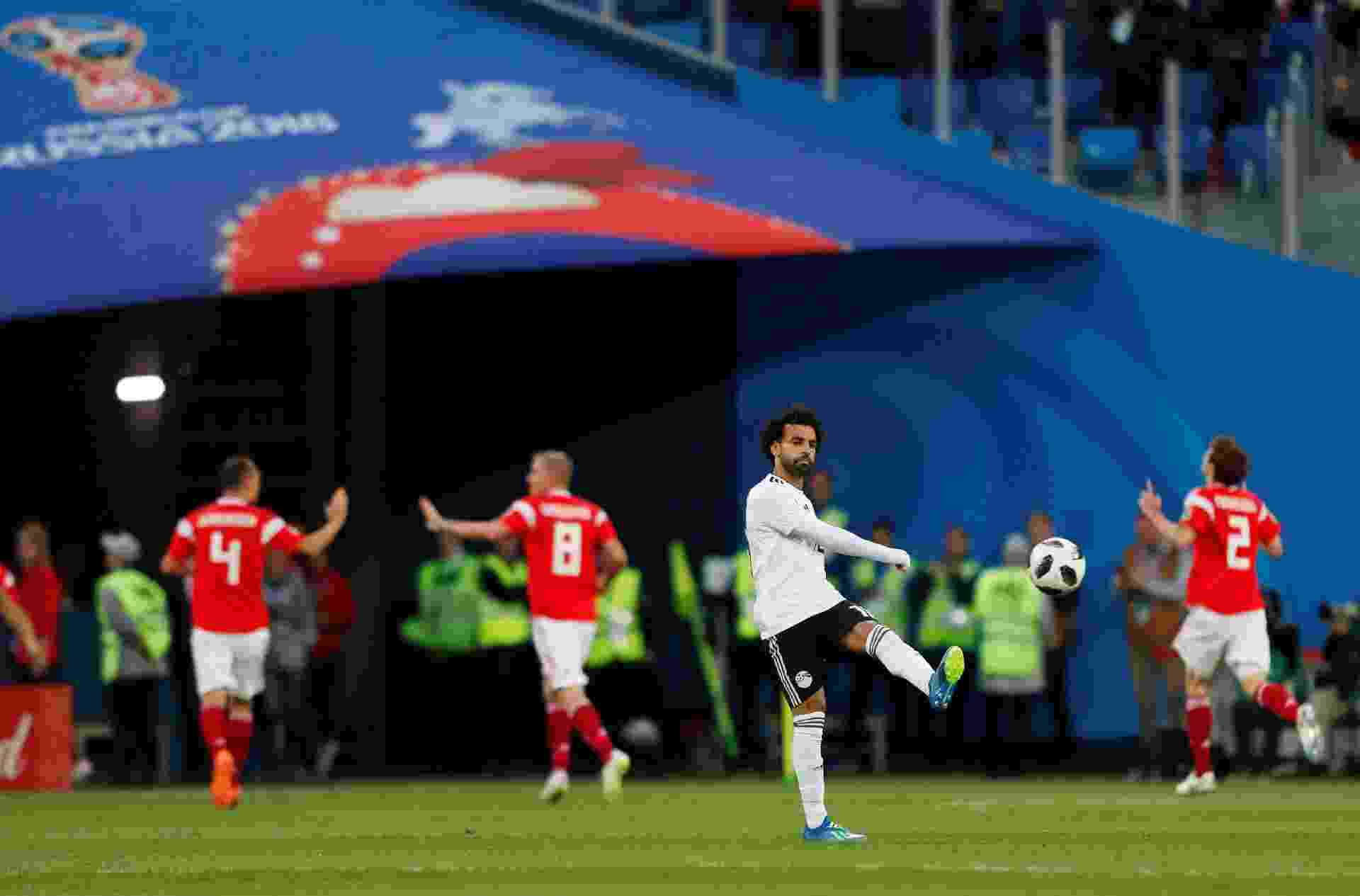 Mohamed Salah lamenta gol feito pela Rússia contra o Egito - Lee Smith/Reuters