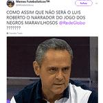 Luís Roberto acabou virando assunto na interbet durante o jogo entre França e Austrália - Reprodução/Twitter