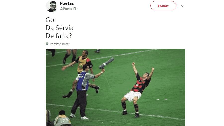 Em 2001, o mais brasileiros dos sérvios deu o tri carioca ao Flamengo com um gol nos últimos minutos na final contra o Vasco - Reprodução/Twitter