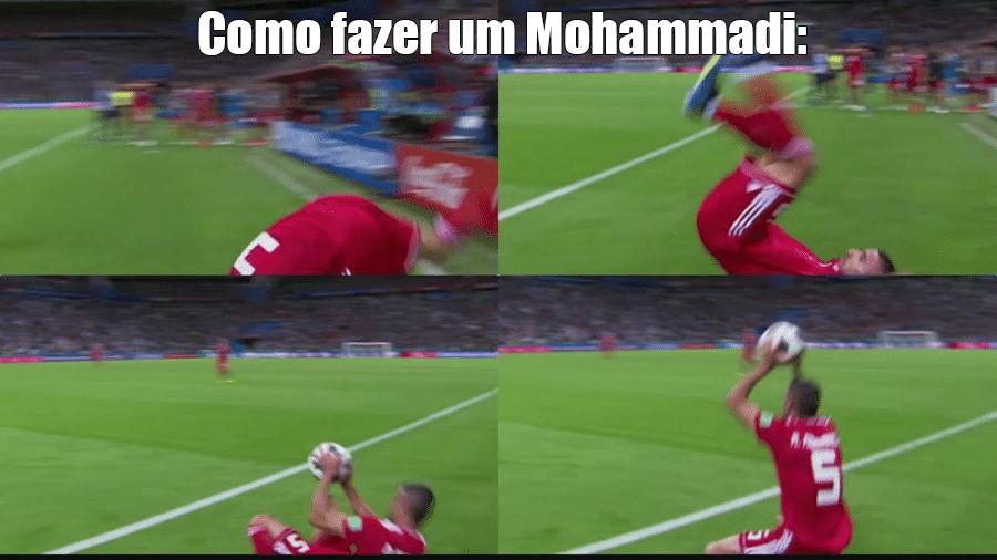 O lateral do Mohammadi foi tão legal que merece ser batizado com o nome dele