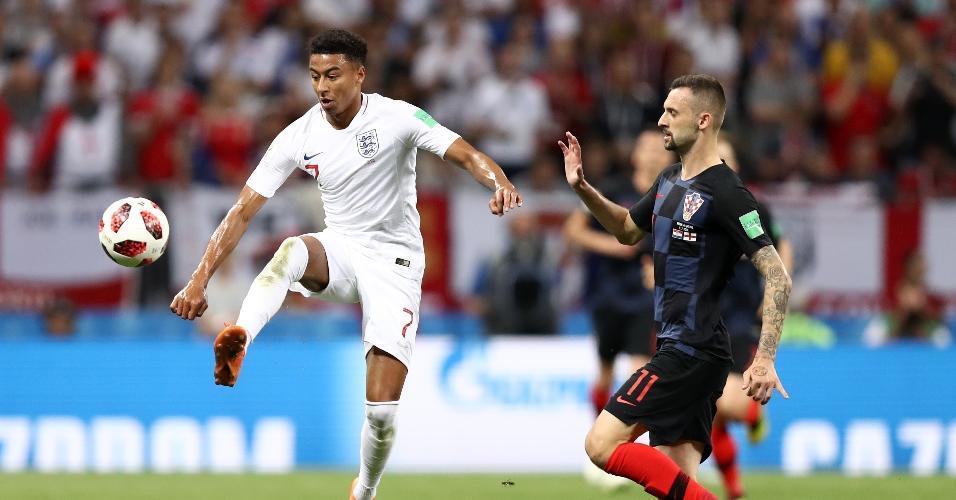 Jesse Lingard, da Inglaterra, em ação durante semifinal contra a Croácia