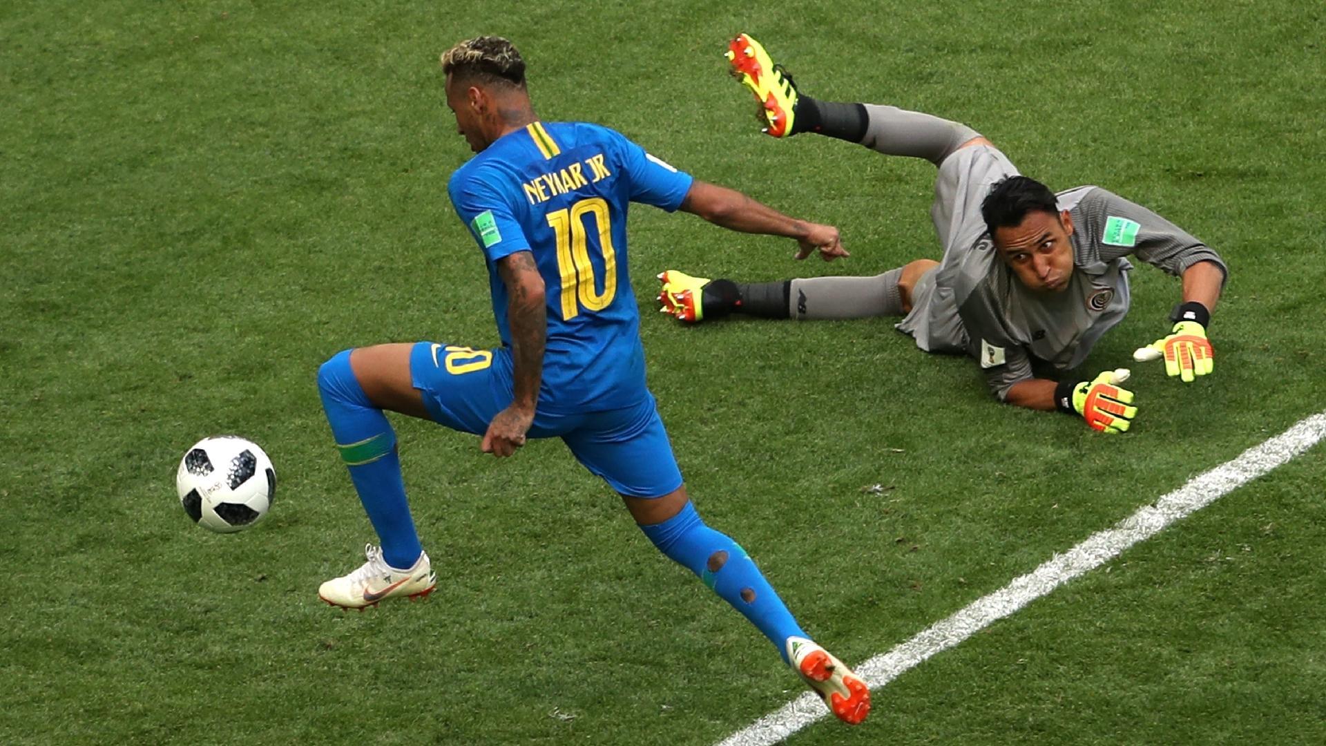Neymar ampliou para o Brasil em partida difícil contra a Costa Rica