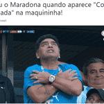 A reação de Maradona com o gol do Messi pode ilustrar dramas bem comuns no dia a dia - Reprodução/Twitter