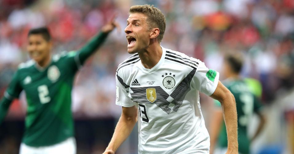 Thomas Müller, da seleção da Alemanha, durante jogo contra o México