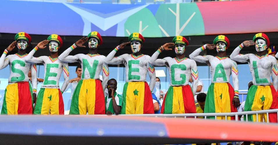 Torcida de Senegal prestigia time para duelo contra a Colômbia