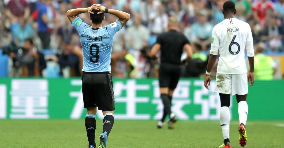 Suárez lamenta segundo gol da França na partida