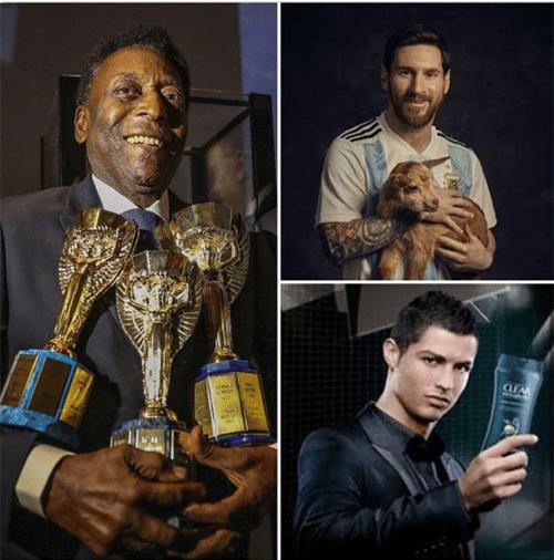 Os brasileiros adoraram tirar sarro das eliminações de Messi e Cristiano Ronaldo