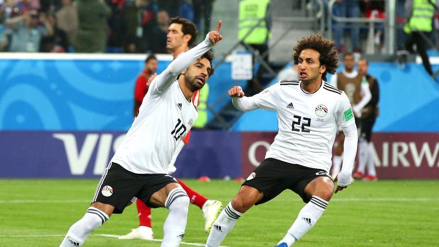 Mohamed Salah comemora gol do Egito contra a Rússia - Alex Livesey - 19.jun.2018/Getty Images