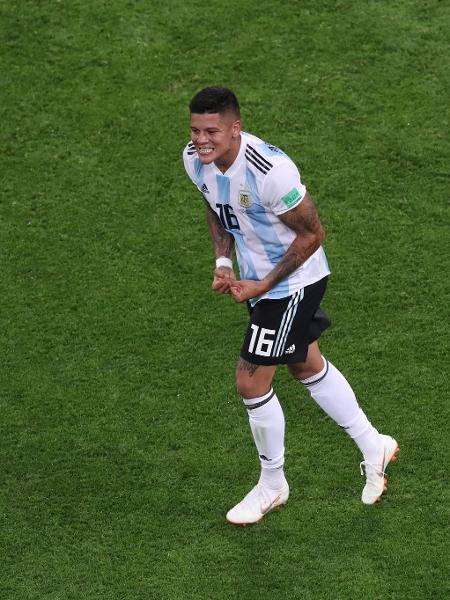 Marcos Rojo comemora gol da Argentina - Francois Nel/Getty Images