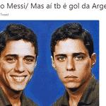 Os brasileiros admiradores de Messi ficaram meio confusos quando saiu o gol dele - Reprodução/Twitter