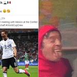 Quando saiu o sorteio a Copa, o Twitter da Alemanha tirou onda com o México por causa da Copa das Confederações. Os mexicanos se vingaram em campo. E a magia da Alemanha começava a acabar - Reprodução/Twitter