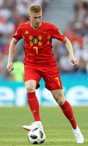 Kevin De Bruyne em ação pela Bélgica em jogo contra o Panamá