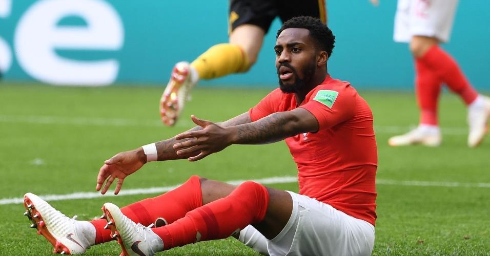 Danny Rose pede falta à arbitragem na partida da Inglaterra contra a Bélgica