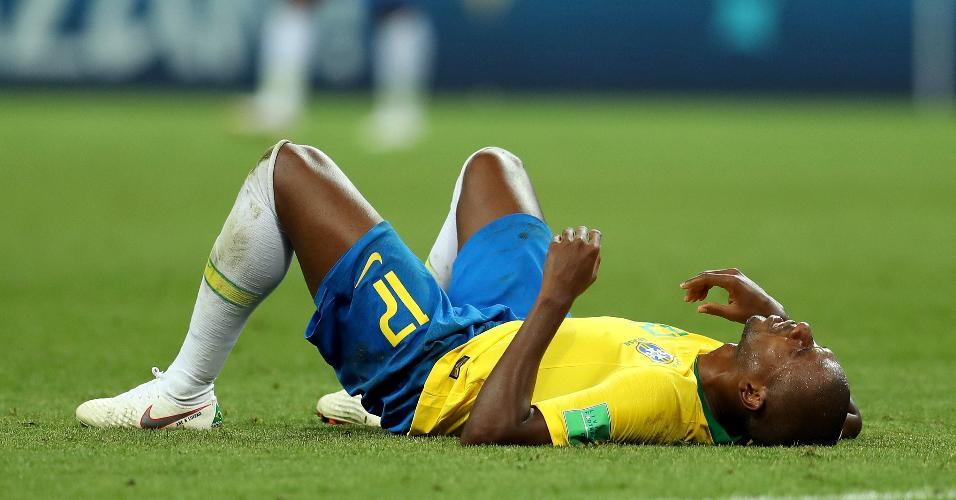 Fernandinho lamenta eliminação do Brasil para a Bélgica