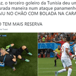 A maldição dos goleiros da Tunísia ameaçou novamente, mas não teve consequências mais sérias - Reprodução/Twitter