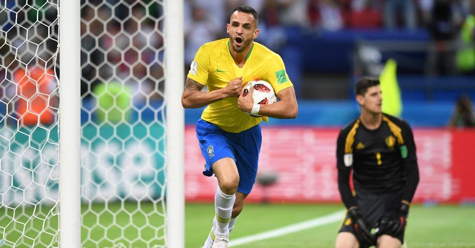 Renato Augusto diminui o placar para o Brasil contra a Bélgica