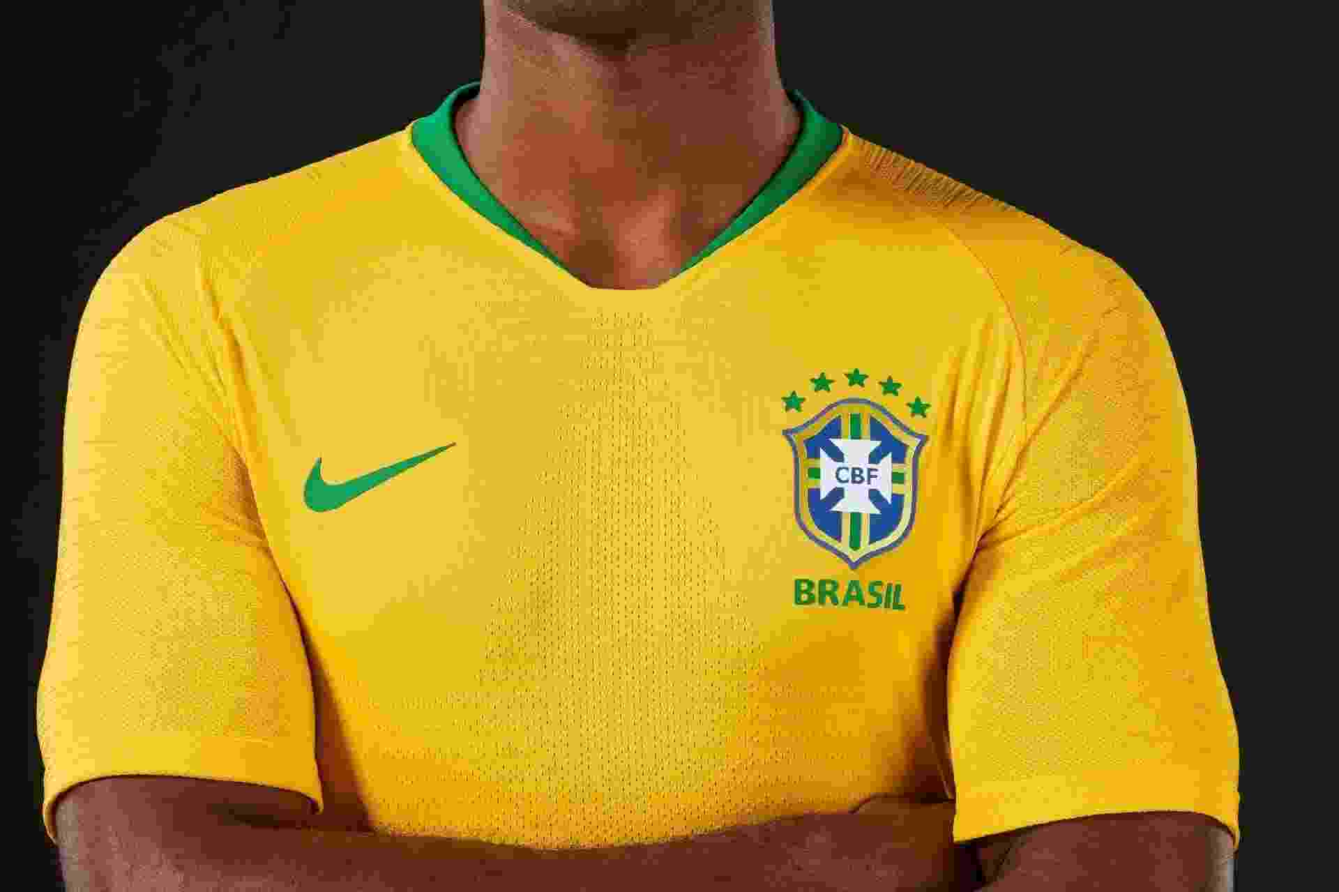 e5a7100279 Nike divulga fotos dos uniformes da seleção para a Copa do Mundo de ...
