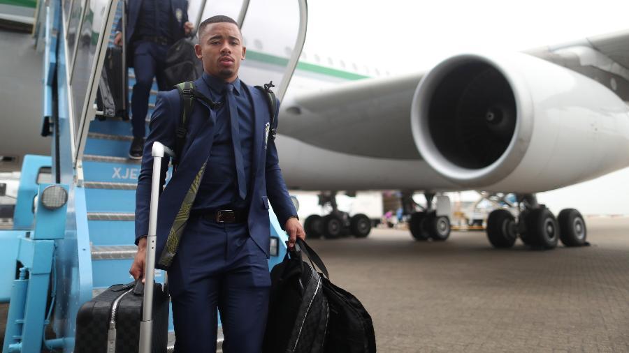 Gabriel Jesus desembarca em Londres com a seleção brasileira; familiares dos jogadores viajarão em voo fretado - Lucas Figueiredo/CBF