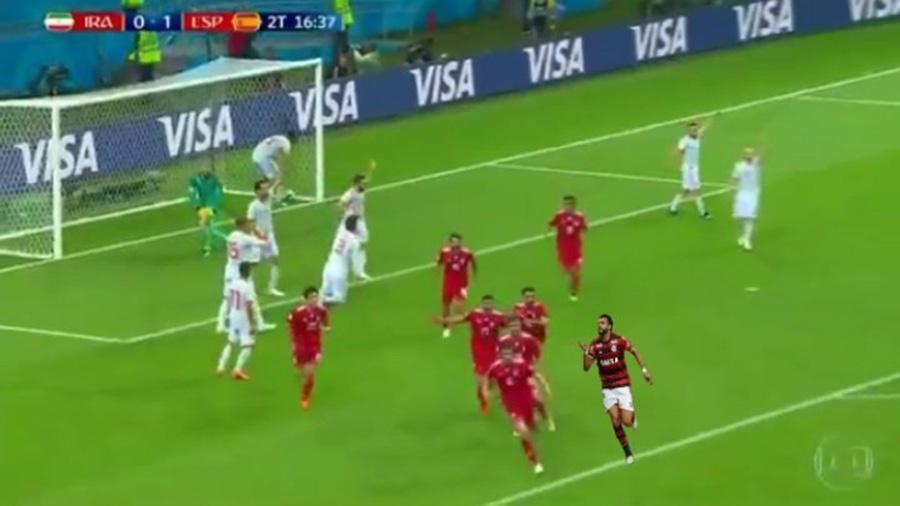 Henrique Dourado chegou aos Trending Topics do Twitter durante o jogo entre Irã e Espanha