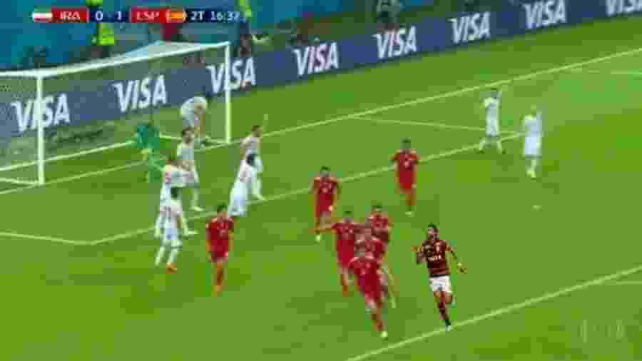 Henrique Dourado chegou aos Trending Topics do Twitter durante o jogo entre Irã e Espanha - Reprodução/Twitter