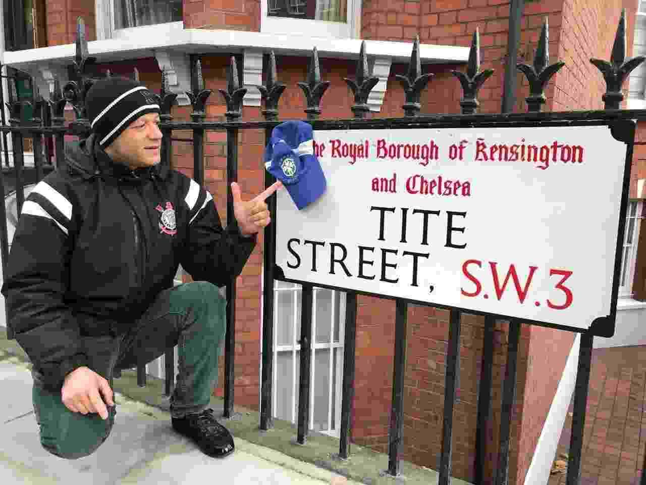 Torcedor do Corinthians, Alessandro mora próximo à Rua Tite, no bairro Chelsea, em Londres - Pedro Ivo Almeida/UOL
