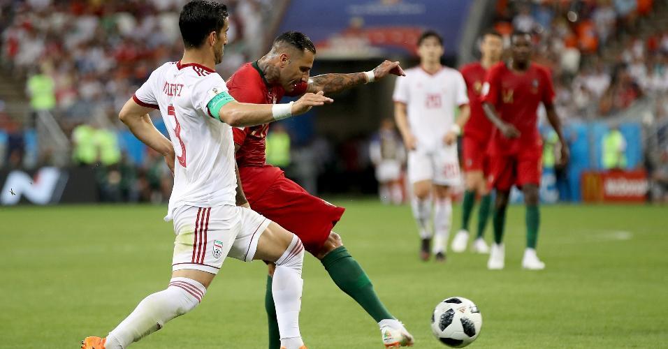 Ricardo Quaresma acerta chute de trivela no ângulo no jogo entre Irã e Portugal