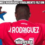 James Rodríguez ainda está zerado na Copa, mas o panamenho Jose Rodriguez mandou lembranças - Reprodução/Twitter