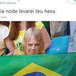 O Brasil meteu medo dentro de campo e também nas arquibancadas - Reprodução/Twitter