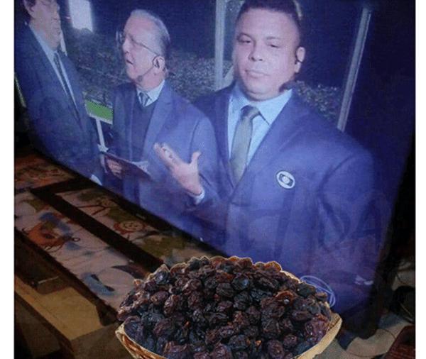 Meme Ronaldo uva passa