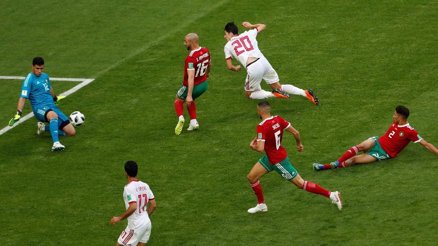 O goleiro do Marrocos Munir Mohamedi fez boas atuações na Copa - Lee Smith/Reuters