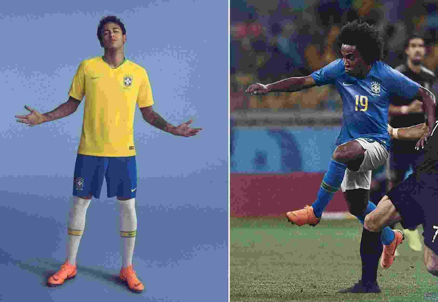 Uniformes da seleção do Brasil - Divulgação/Nike