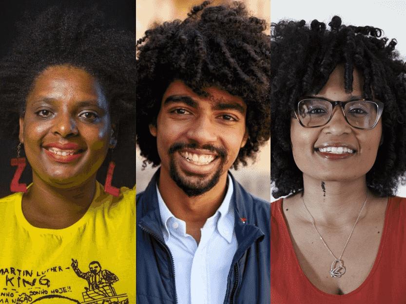 Os pré-canditatos Tamires Sampaio, Elaine Mineiro e  Samuel Emilio  - Arquivo pessoal