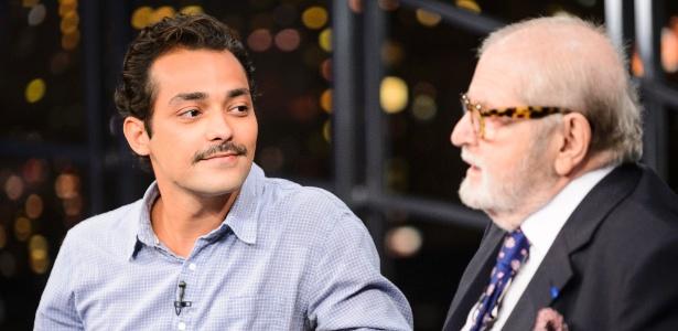 """Eduardo Sterblitch em entrevista ao """"Programa do Jô"""" - Ramón Vasconcelos/Divulgação/TV Globo"""
