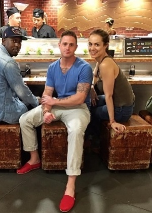 Cameron Douglas com sua namorada, a paulistana Viviane Thibes - Reprodução/Instagram/cameronmorrelldouglas